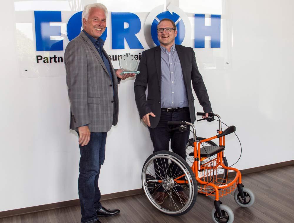 Innovation Preis von der Egroh für den Wheellator auf der Expolife