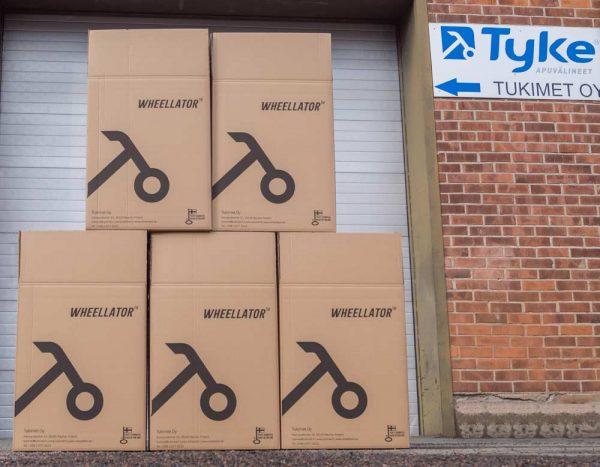 Tukimet Oy Fabrik von aussen mit Wheellator Box