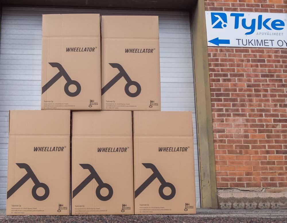 Tukimet Oy Fabrik mit Wheellator Box