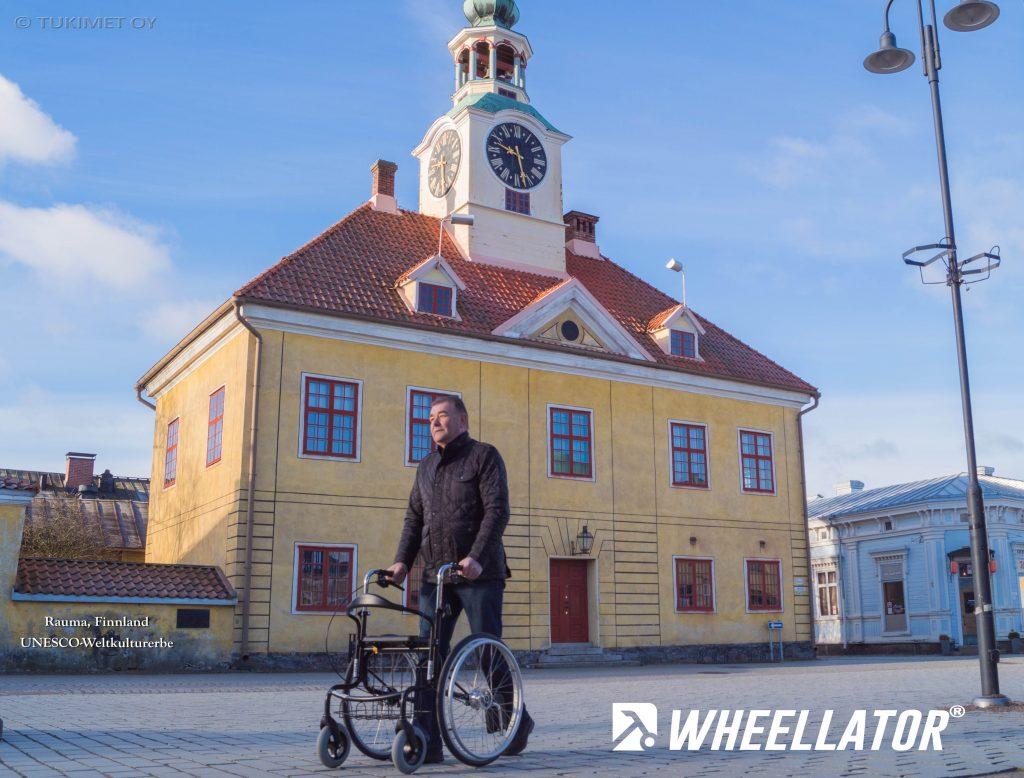 Selbständigkeit im alter erhalten Wheellator sicherer Weg Begleiter für Innen und Aussen