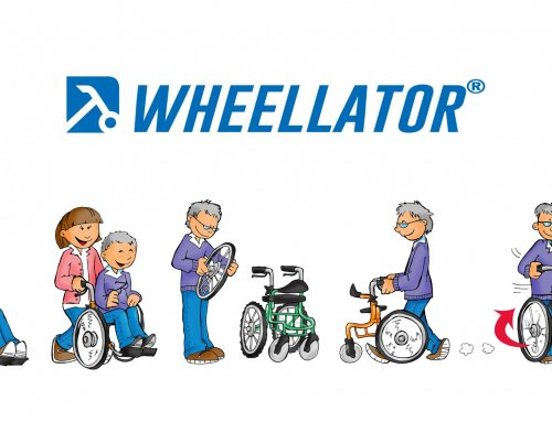 Reha Therapie Gehrollator mit Rollstuhl Funktion WHEELLATOR